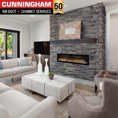 Safe fireplace and chimney